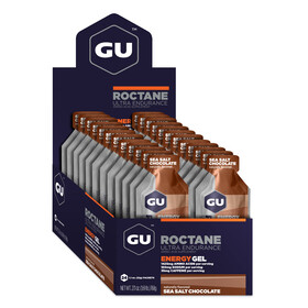 GU Energy Roctane Energy Gel Box 24x32g, Sea Salt Chocolate